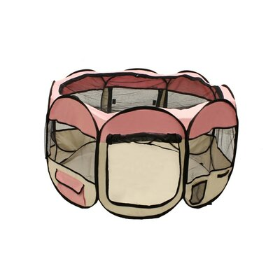 Merriam Octagon Pet Pen Size: 24 H x 45 W x 45 D, Color: Pink