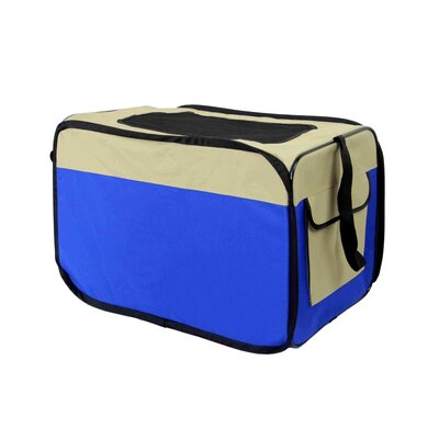 Jodi Medium Heavy Duty Indoor and Outdoor Portable Pop Up Home Shelter Pet Carrier Size: 19 H x 17.5 W x 26 D, Color: Blue