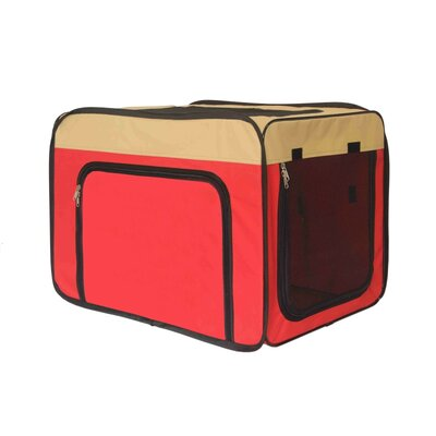 Medium Heavy Duty Indoor and Outdoor Portable Pop Up Home Shelter Pet Carrier Size: 28 H x 25 W x 37 D, Color: Red