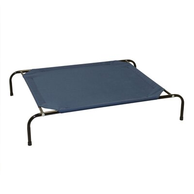 Jojo Basic Elevated Steel Frame Pet Cot Size: Medium (43 W x 31.5 D), Color: Blue