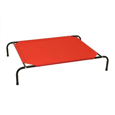 Jojo Basic Elevated Steel Frame Pet Cot Size: Medium (43 W x 31.5 D), Color: Red
