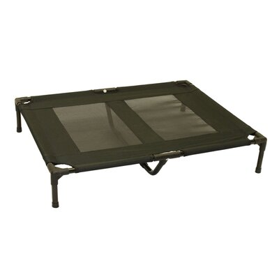 Metcalf Luxury Elevated Steel Frame Pet Cot Color: Black