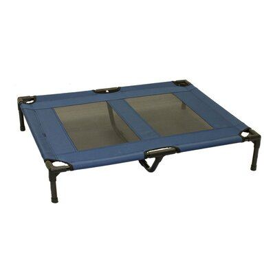 Luxury Elevated Steel Frame Pet Cot Color: Blue