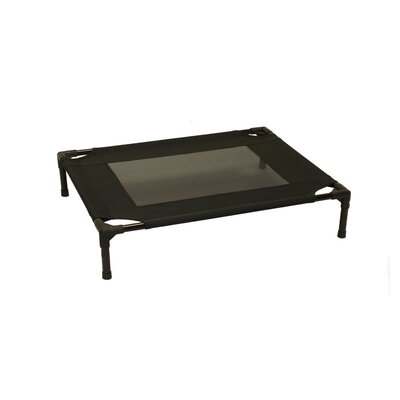 Metcalf Luxury Elevated Steel Frame Pet Cot Size: Medium (24 W x 30 D), Color: Black