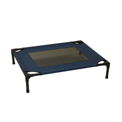 Metcalf Luxury Elevated Steel Frame Pet Cot Size: Medium (24 W x 30 D), Color: Blue