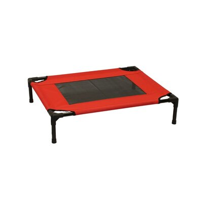 Metcalf Luxury Elevated Steel Frame Pet Cot Size: Medium (24 W x 30 D), Color: Red