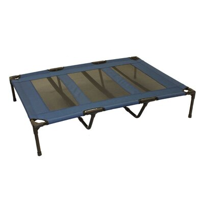 Jimmie Luxury Elevated Steel Frame Pet Cot Color: Blue