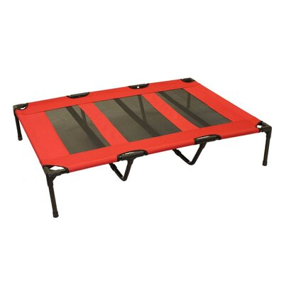 Luxury Elevated Steel Frame Pet Cot Color: Red