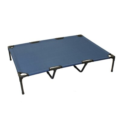 Jonah Basic Plus Elevated Steel Frame Pet Cot Color: Blue
