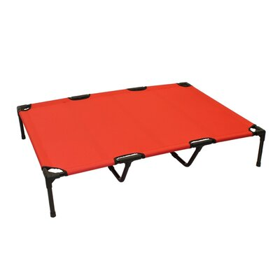 Jonah Basic Plus Elevated Steel Frame Pet Cot Color: Red