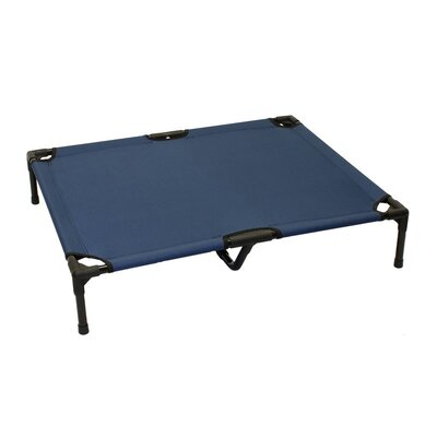 Basic Plus Elevated Steel Frame Pet Cot Color: Blue
