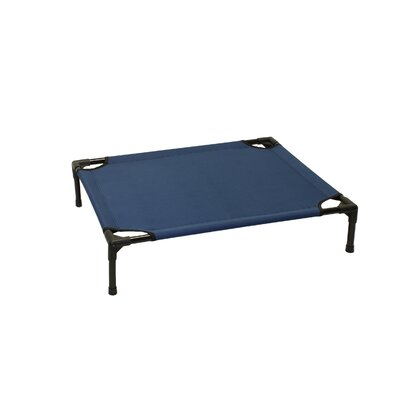 Basic Plus Elevated Steel Frame Pet Cot Size: Medium (24 W x 30 D), Color: Blue