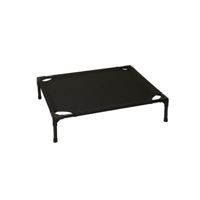 Basic Plus Elevated Steel Frame Pet Cot Size: Small (19 W x 24 D), Color: Black