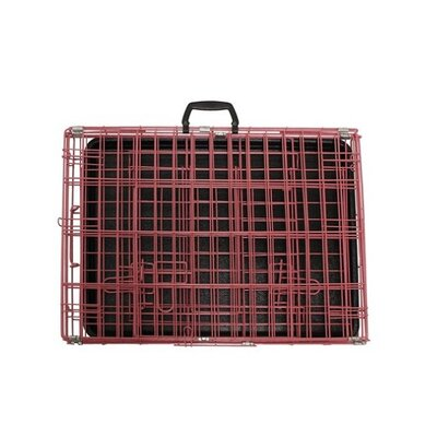 Keeney 2 Doors Folding Suitcase Pet Crate Size: 22H x 25W x 36L