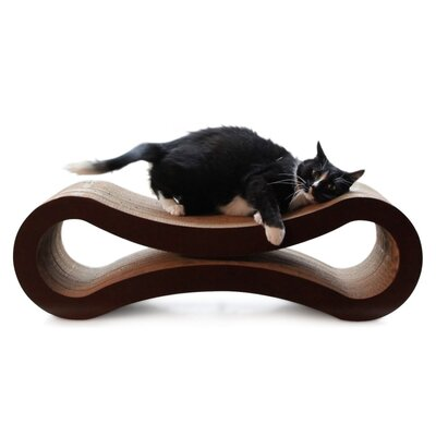 Kato Modern Curved Cat Lounge Scratching Board Size: 6.3 L x 18.9 W