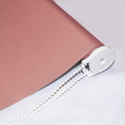 Semi-Sheer Draw String Outdoor Roll-Up Shade Blind Size: 48W x 72L, Color: Pink