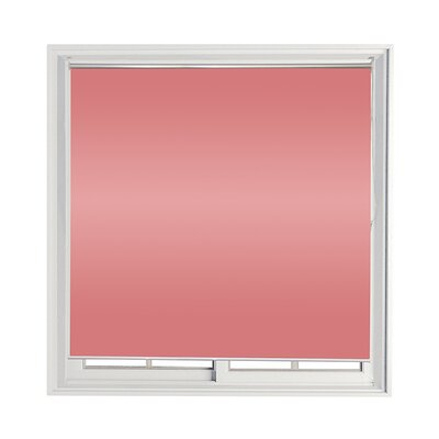 Semi-Sheer Indoor/Outdoor Roll-Up Shade Color: Pink