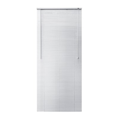 Vinyl Semi-Sheer Horizontal Blind Blind Size: 26W x 64L, Color: White