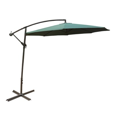 Image of 10' Cantilever Umbrella Color: Green