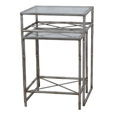 2 Piece Nesting Tables Finish: Aged Silver