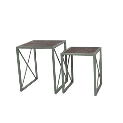 2 Piece Nesting Tables Finish: Antique Blue
