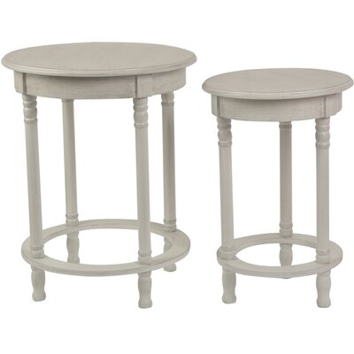 2 Piece Nesting Tables Finish: Antique White