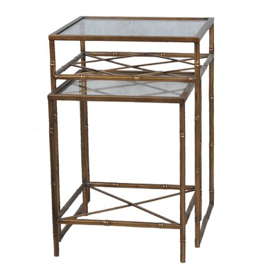 2 Piece Nesting Tables Finish: Aged Brass