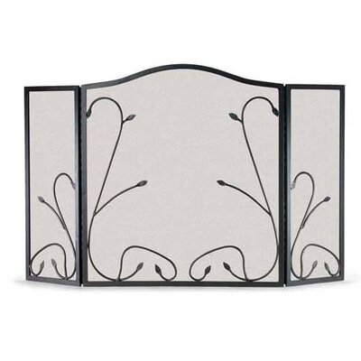Leaf and Vine 3 Panel Steel Fireplace Screen 19214