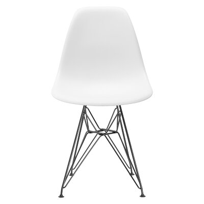 Rafael Side Chair Upholstery: White