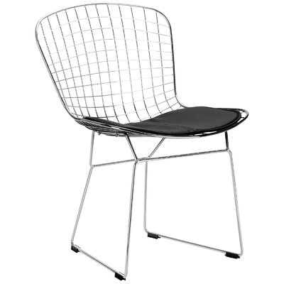 Makris Side Chair Upholstery: Black