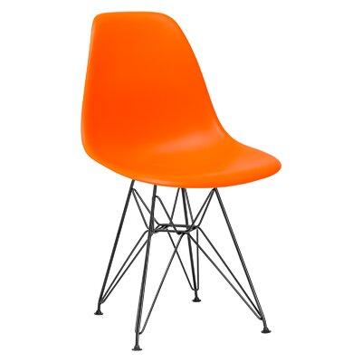 Rafael Side Chair Upholstery: Orange