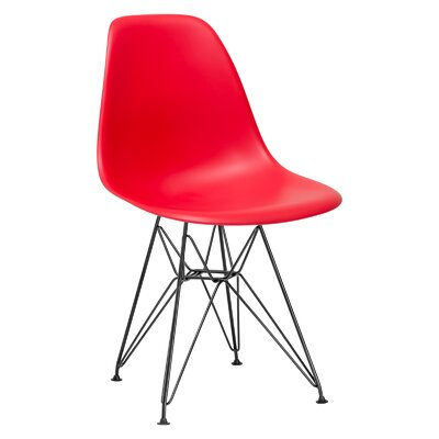 Rafael Side Chair Upholstery: Red