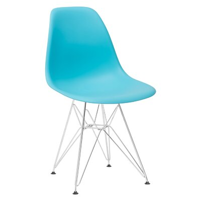 Padget Side Chair Upholstery: Aqua