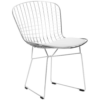 Makris Side Chair Upholstery: White
