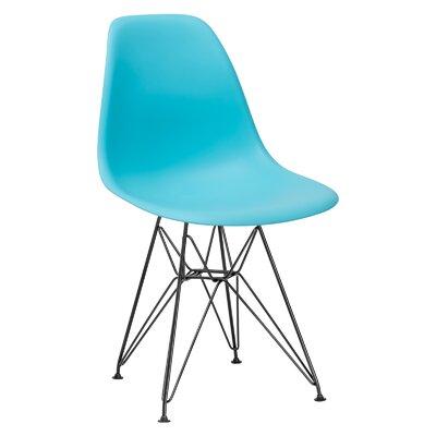 Rafael Side Chair Upholstery: Aqua