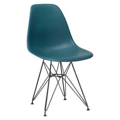 Rafael Side Chair Upholstery: Teal