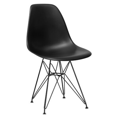 Rafael Side Chair Upholstery: Black