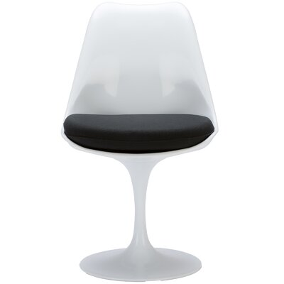 Cronk Side Chair Upholstery: Black