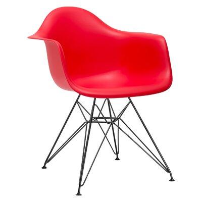 Edgemod Padget Arm Chair (Set of 2) - Upholstery: Red, Leg Finish: Chrome