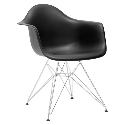 Padget Arm Chair Color: Black