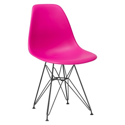 Rafael Side Chair Upholstery: Fuchsia