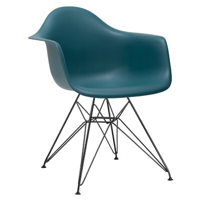 Padget Arm Chair (Set of 2) Upholstery: Teal, Leg Finish: Chrome