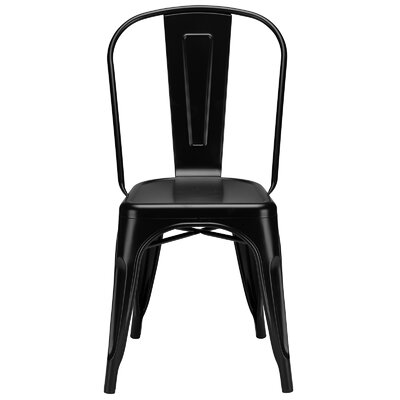 Alyssa Metal Side Chair Finish: Black