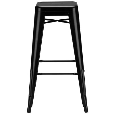Alyssa Modern 30 Bar Stool Upholstery: Black