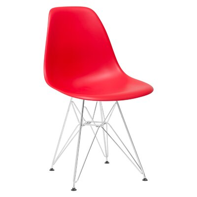 Padget Side Chair Upholstery: Red