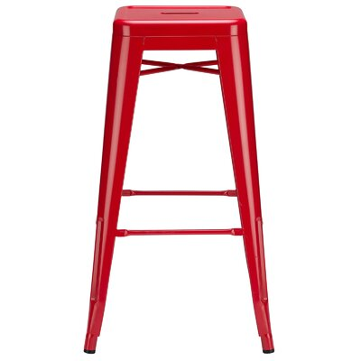 Alyssa 30 Bar Stool Finish: Red