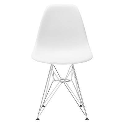 Padget Side Chair Upholstery: White