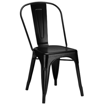 Trattoria Side Chair Color: Black