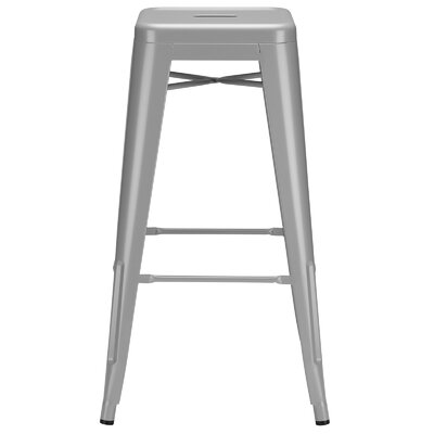 Alyssa Modern 30 Bar Stool Upholstery: Gray