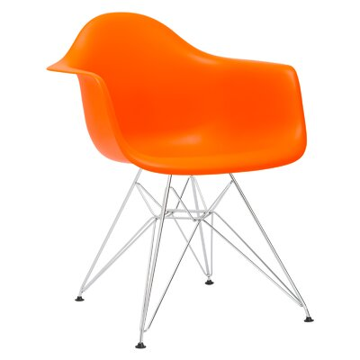 Rafael Arm Chair Color: Orange